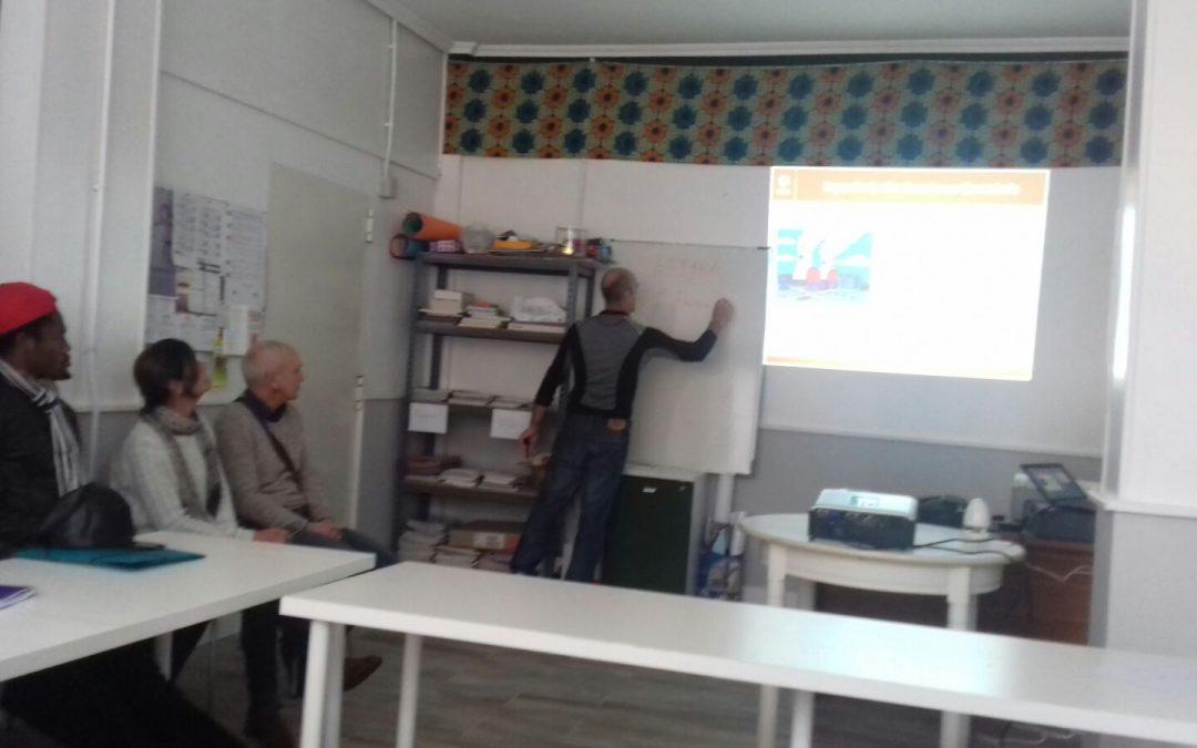 Compartiendo espacio con la Asociación 14 Kilómetros de Santander
