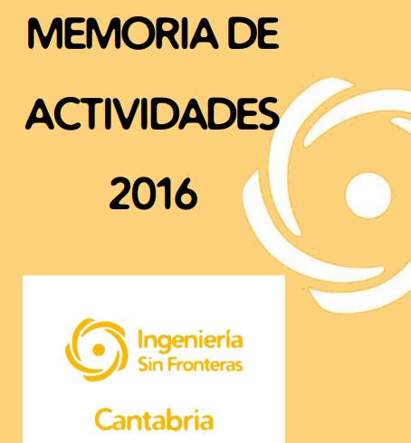 Publicada la memoria de actividades de 2016
