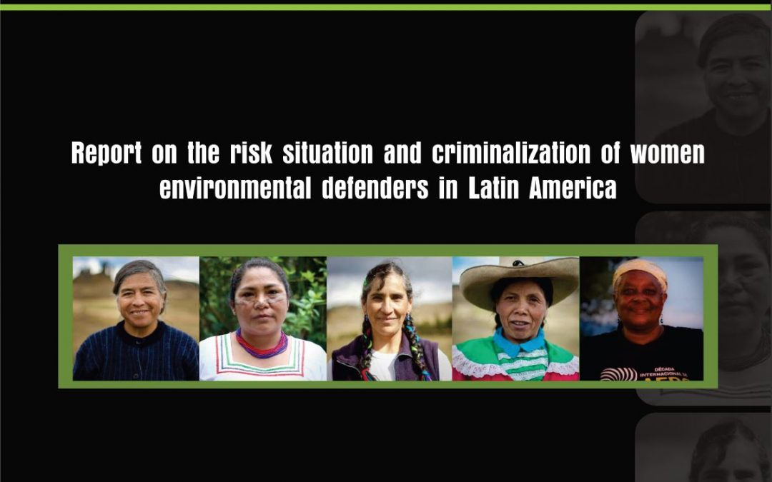 Report of the risk situation and criminalization of women enviromental defenders in Latin America