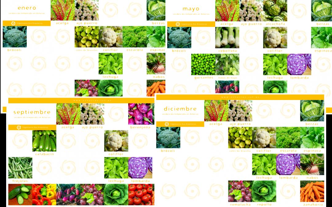 Ya están disponibles para descargar los calendarios de verduras de temporada en Asturias