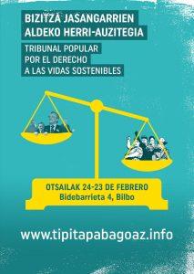 Convocatoria TRIBUNAL POPULAR por el derecho a las vidas SOStenibles