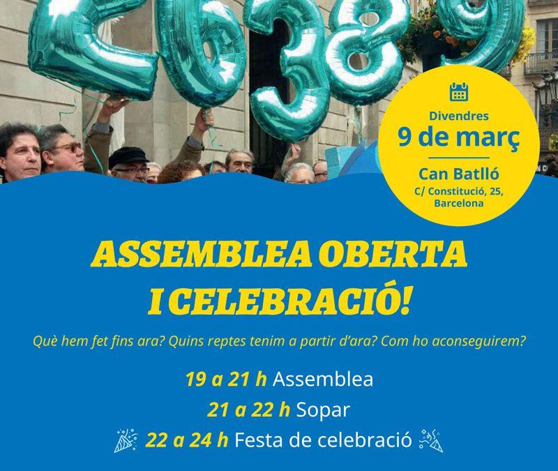 Superat l'#OBJECTIU15000, votem SI a la remunicipalització de l'aigua a Barcelona!