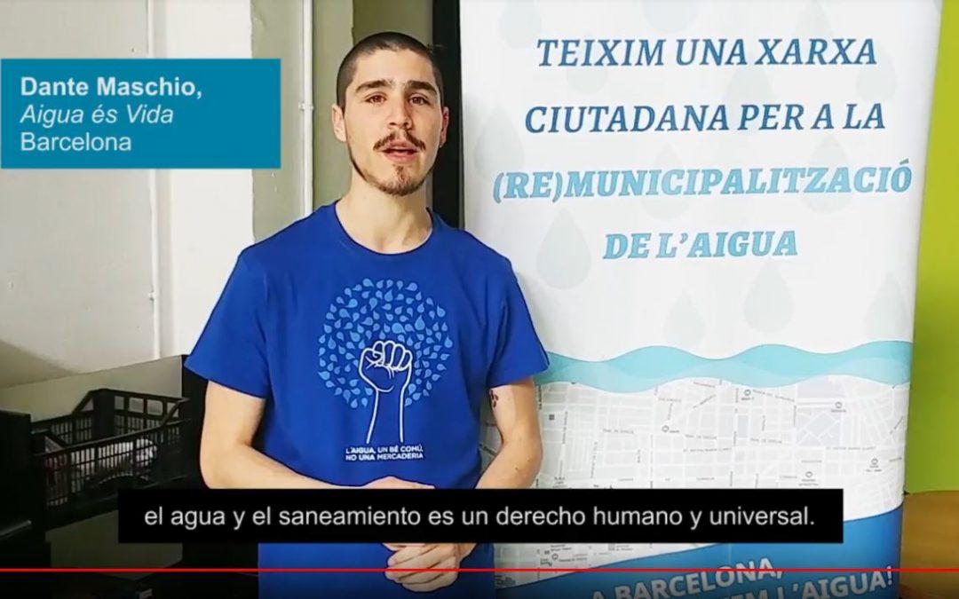 Suport internacional a la remunicipalització de l'aigua a Barcelona