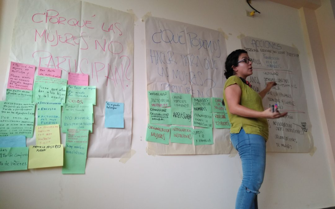 Taller de desigualtats de gènere amb els líders i lidereses de totes les Juntes d'Aigua