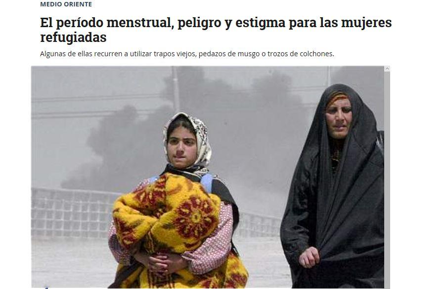 El período menstrual, peligro y estigma para las mujeres refugiadas.