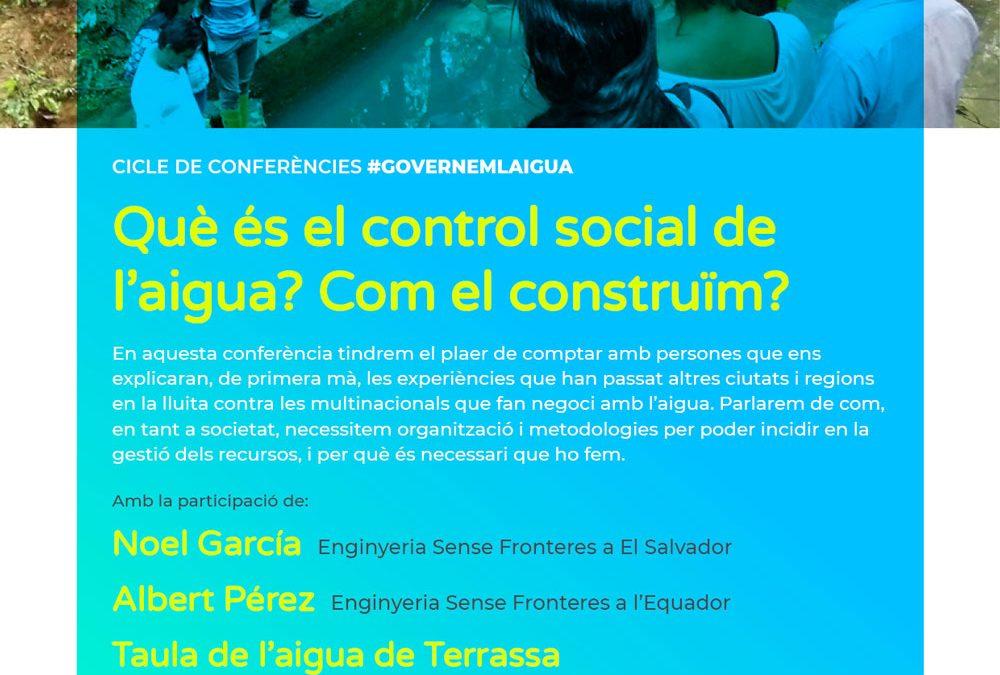 Jornada: Què és el control social de l'aigua? Com el construïm? #GovernemlAigua