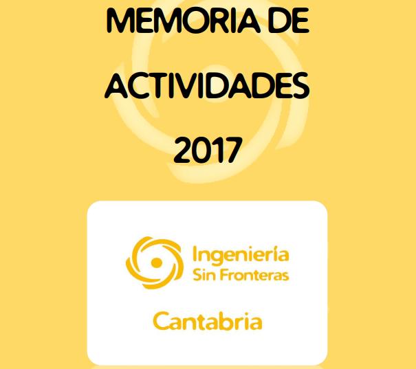 Publicada la memoria de actividades de 2017
