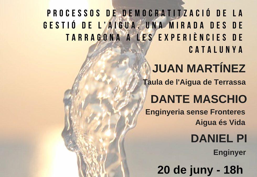 """Segona Jornada: """"La revolució dels béns comuns: enfortint el control popular del territori a Tarragona"""""""