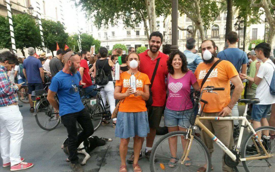 El Movimiento Por el Clima de Sevilla reclama una ciudad sin malos humos
