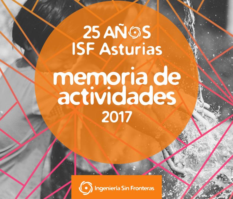 Memoria 2017 Ingeniería sin Fronteras Asturias