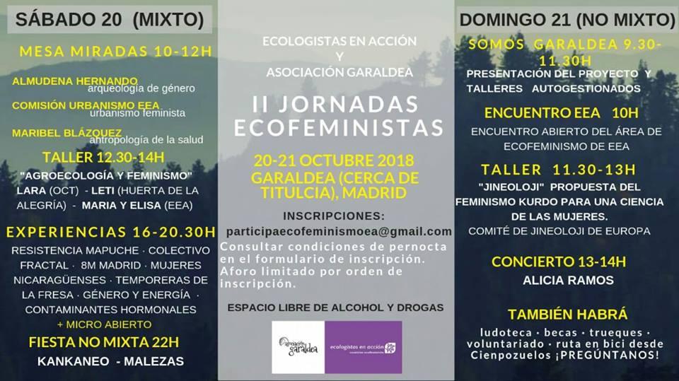Diario Activista 8 – En las jornadas ecofeministas – Octubre 2018