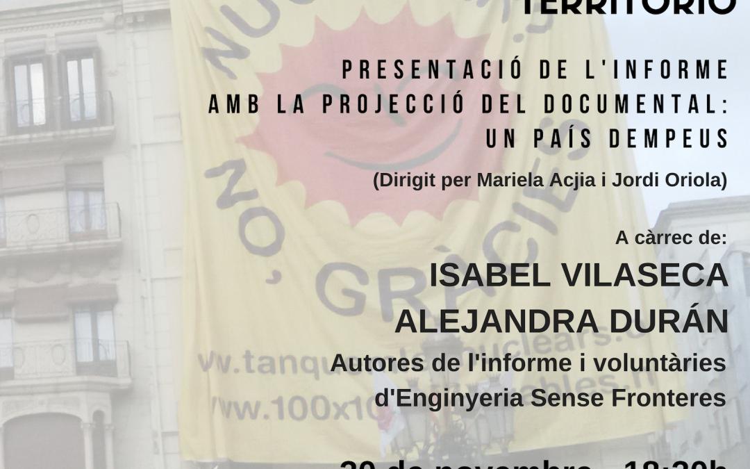 """Presentació de l'informe """"Injusticia ambiental en Tarragona: Un análisis de conflictos y resistencias en el territorio"""""""