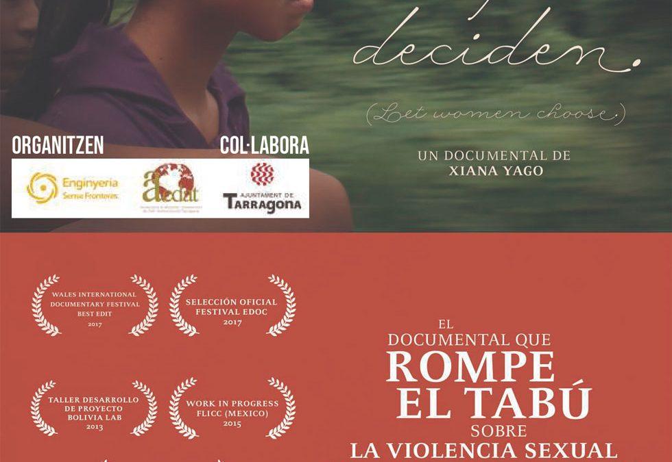"""Projecció del documental """"Las mujeres deciden"""""""