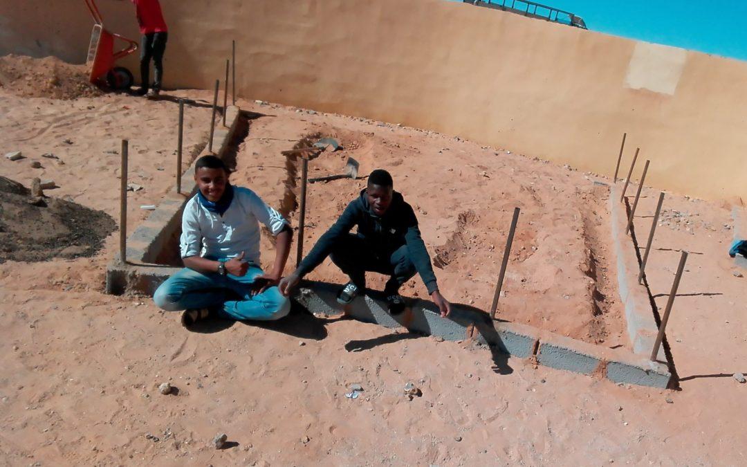 Fase final del proyecto de fortalecimiento en la Escuela de Secundaria de Bojador