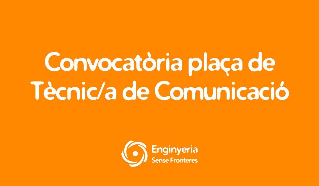 Convocatòria plaça de Tècnic/a de Comunicació