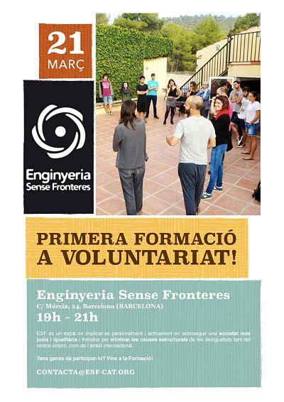 Primera formació a Voluntariat!