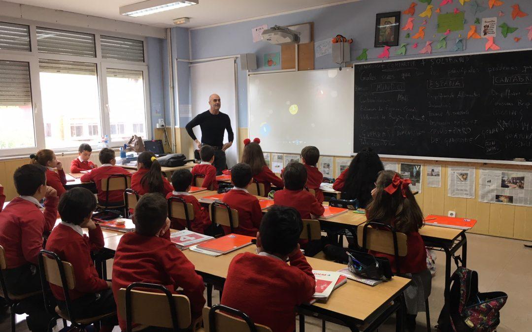 Taller sobre los ODS en el colegio La Sagrada familia de Herrera de Camargo