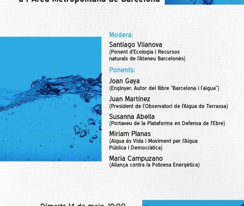 Taula Rodona: Gestió pública i democràtica de l'aigua a l'Àrea Metropolitana de Barcelona