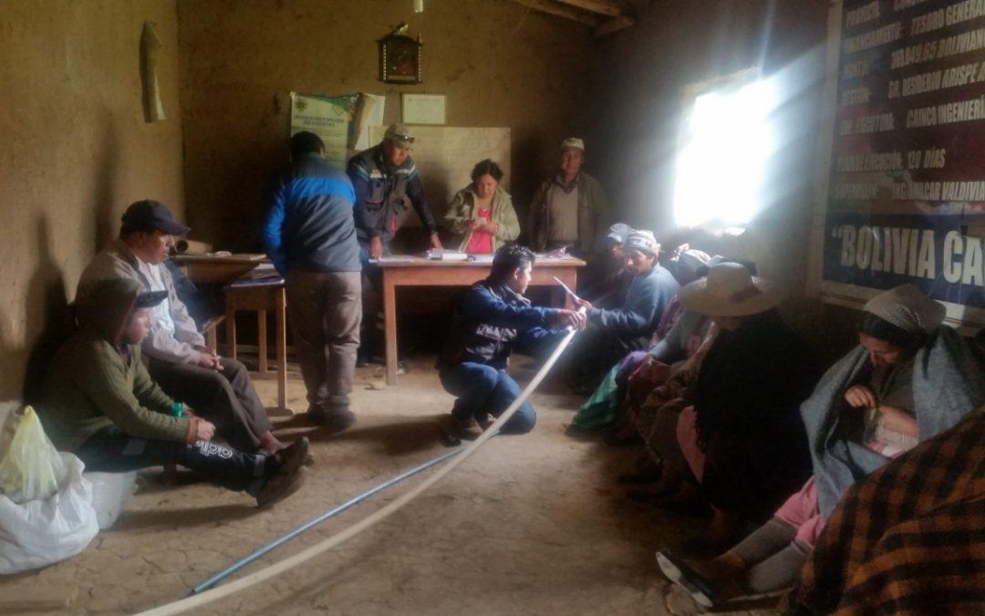 Avances del proyecto desarrollado en Bolivia