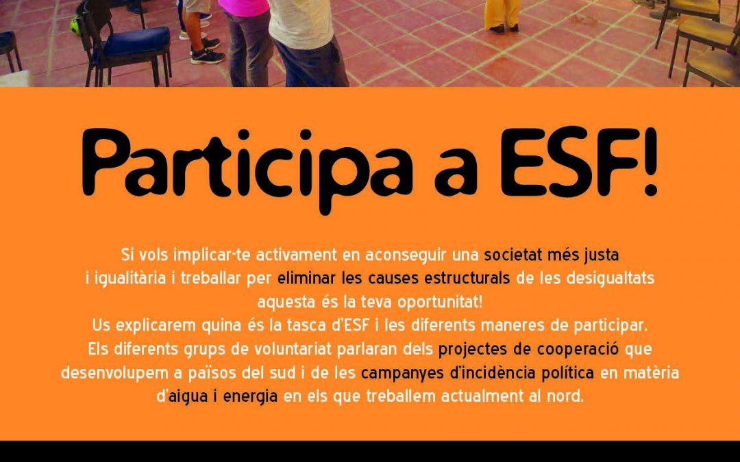 Xerrada per nou voluntariat – Participa a ESF!
