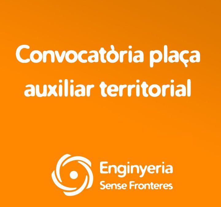 Convocatòria plaça auxiliar territorial