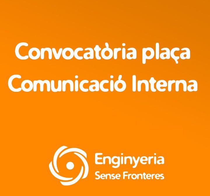 Convocatòria plaça Comunicació Interna