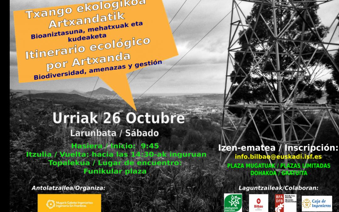 Itinerario ecológico por Artxanda – 26 de octubre de 2019