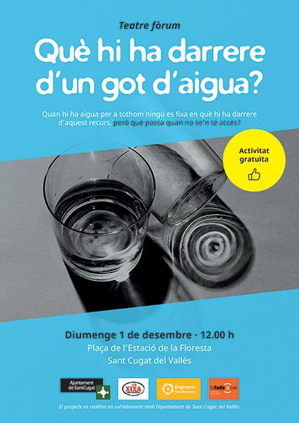 Teatre-fòrum: Què hi ha darrera d'un got d'aigua?