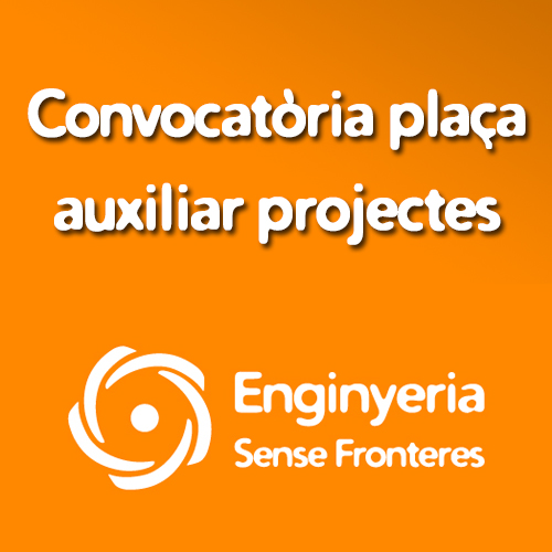 Convocatòria: Plaça auxiliar projectes