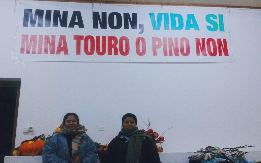 Crónica da visita de Doris e Lucía, defensoras da terra en Honduras