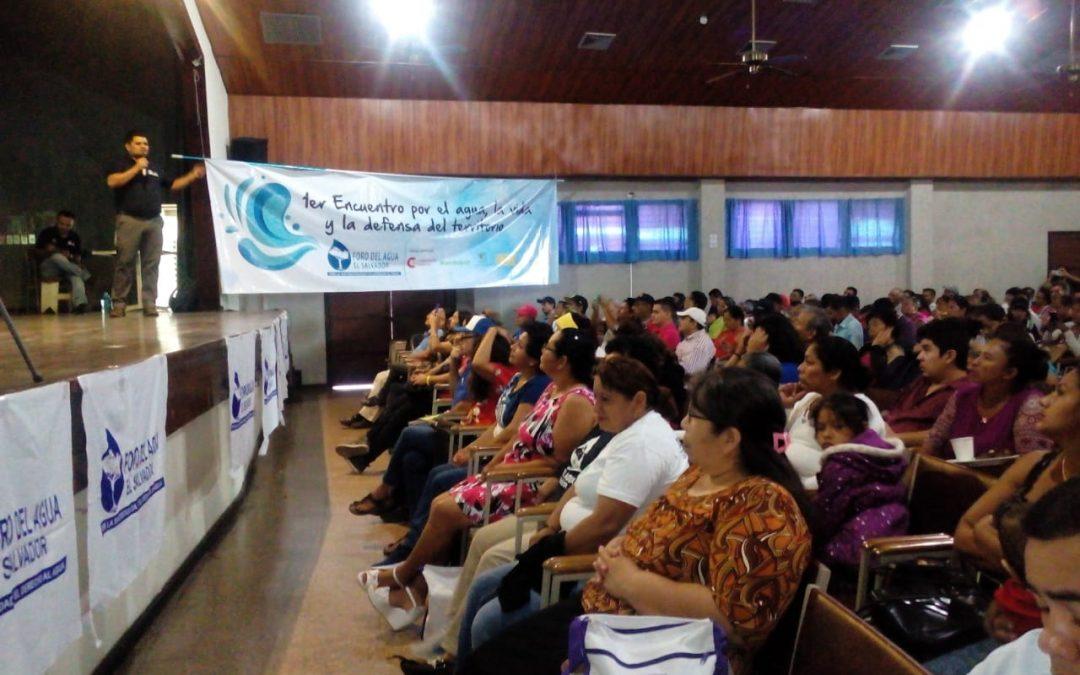 Primer encuentro nacional por el agua, la vida y la defensa del territorio en El Salvador