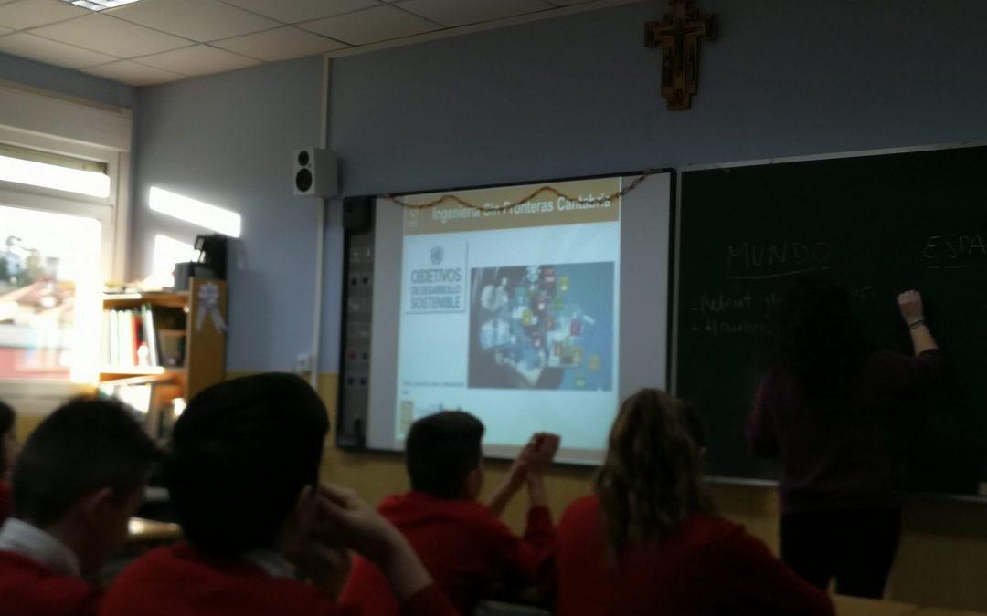 """Taller de Objetivos de Desarrollo Sostenible"""" en el Colegio Sagrada Familia"""