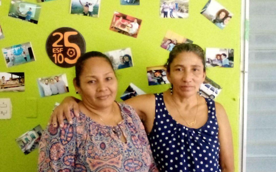 Visita de Teresa e Basilia, as mulleres da auga