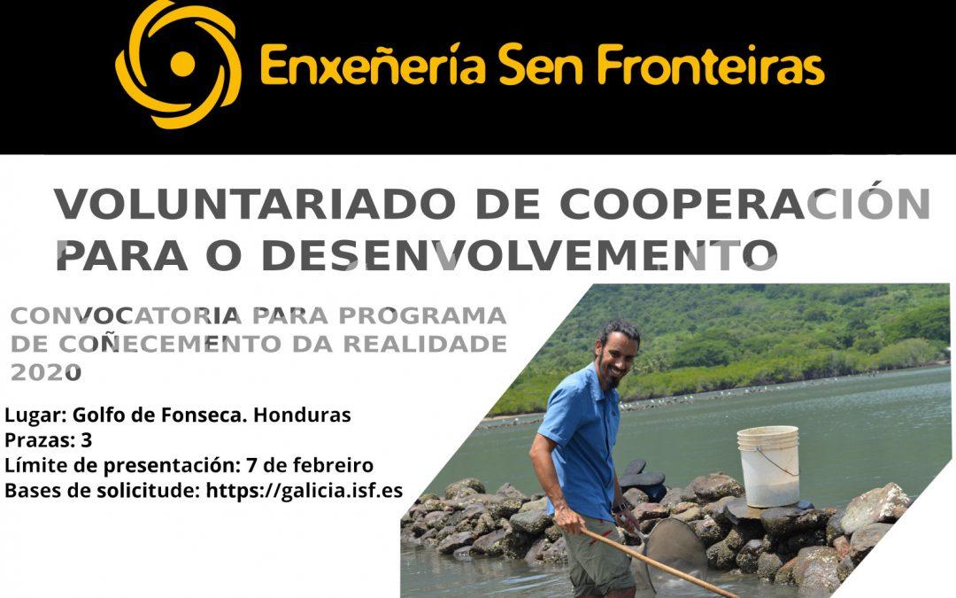 Voluntariado de cooperación. Programa de Coñecemento da Realidade 2020