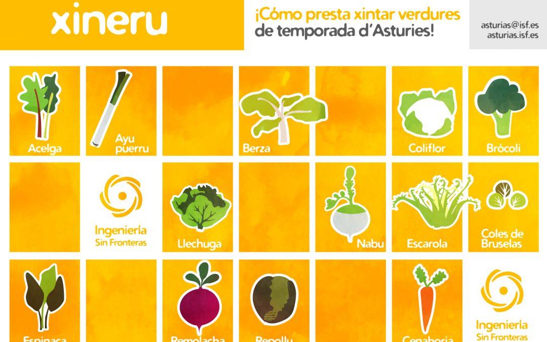 Ya están disponibles para descargar los NUEVOS calendarios de verduras de temporada en Asturias