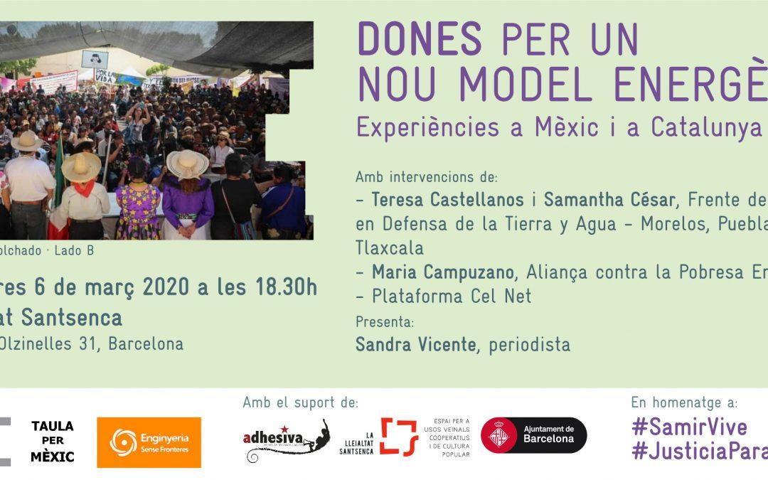 Dones per un nou model energètic, experiències a Mèxic i Catalunya.