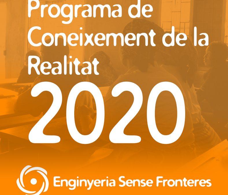 Programa de Coneixement de la Realitat (PCR) 2020