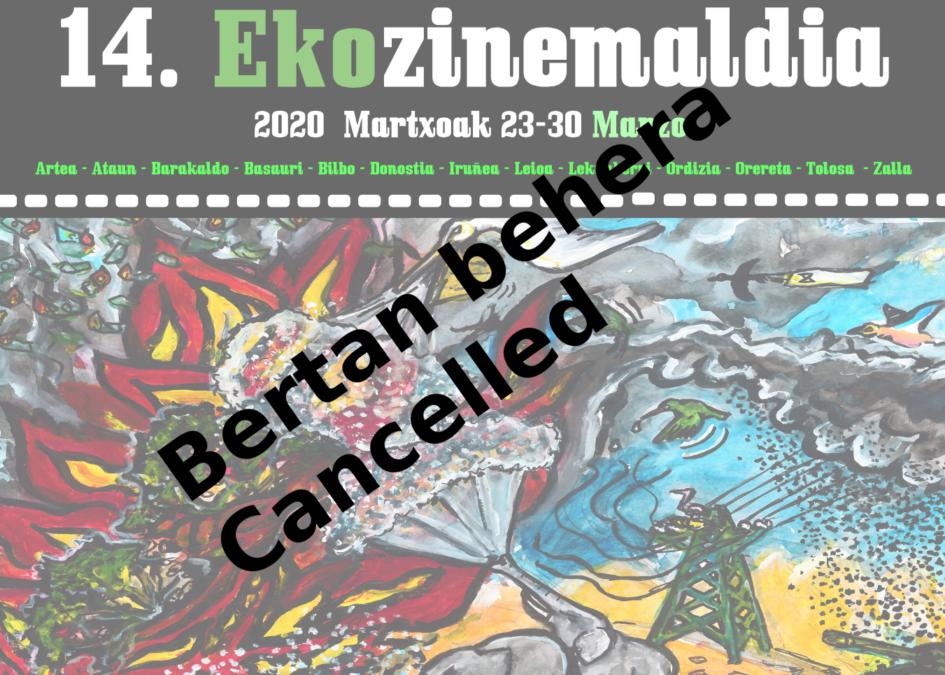 ¿El Ekozinemaldia 2020 cancelado?