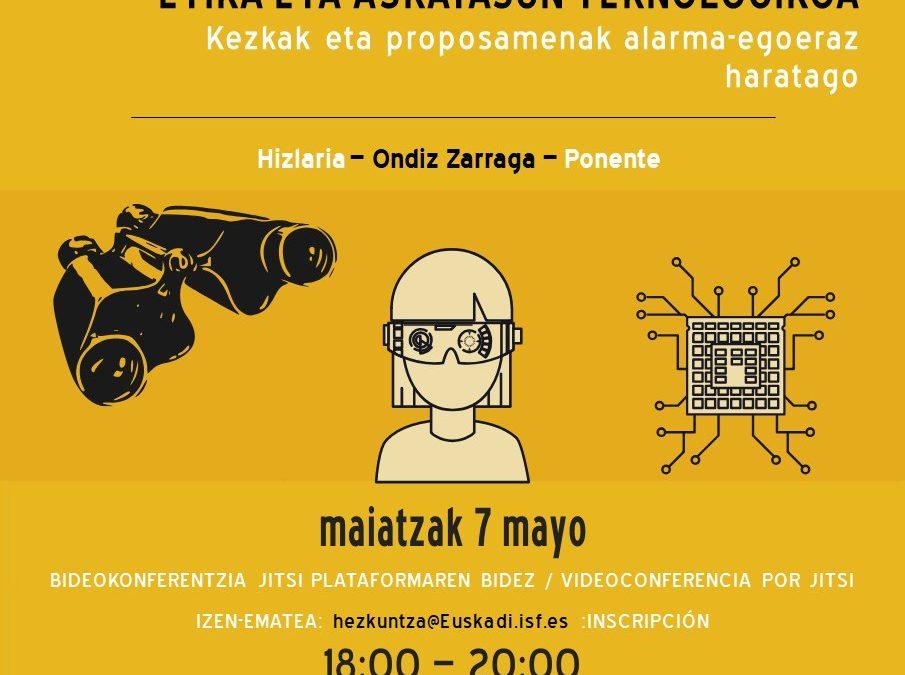 Ética y libertad tecnológica. Preocupaciones y propuestas más allá del estado de alarma.