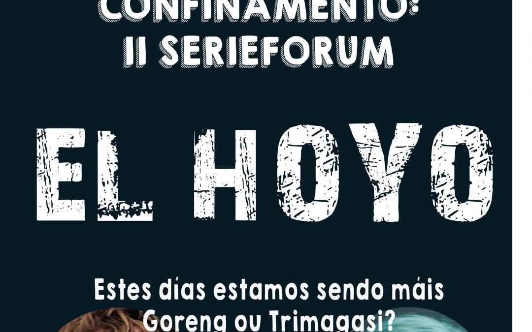 """II Ciberfaladoiro no confinamento: cineforum """"El Hoyo"""""""