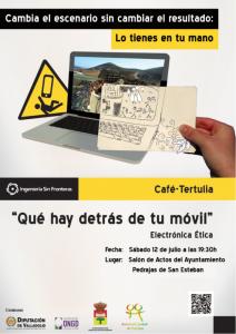 Café-tertulia Electrónica ética: ¿Qué hay detrás de tu móvil?