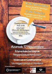 """Café Tertulia """"Violencias en Centroamérica: Los megaproyectos en Honduras"""""""