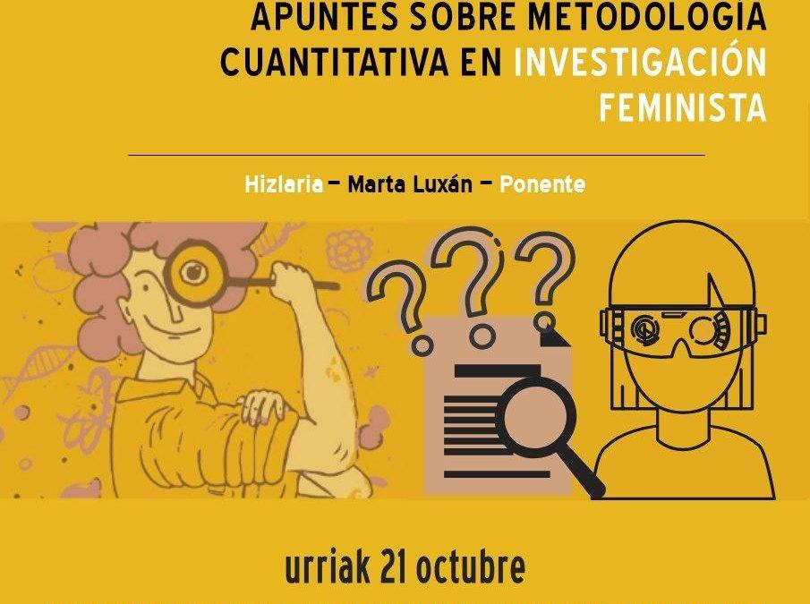 Ikerketa feministako metodologia kuantitatiboari buruzko oharrak