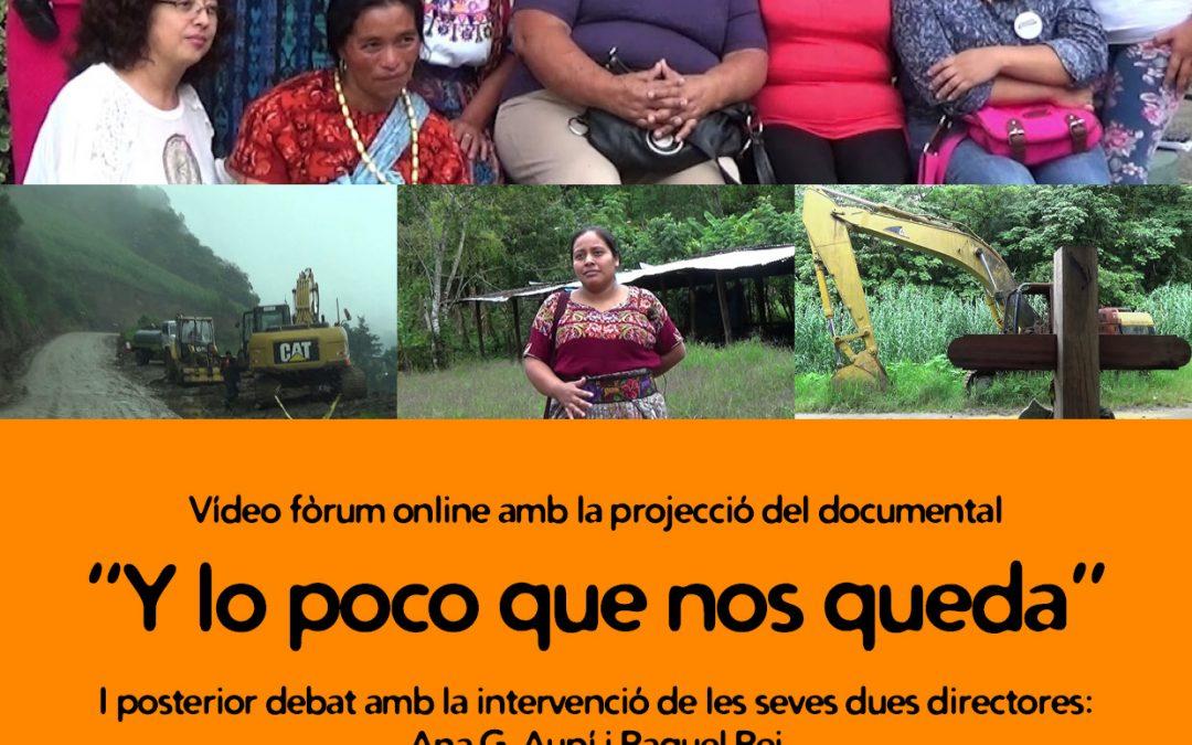 """Projecció documental """"Y lo poco que nos queda"""" a les Jornades per la Pau i la Cooperació"""