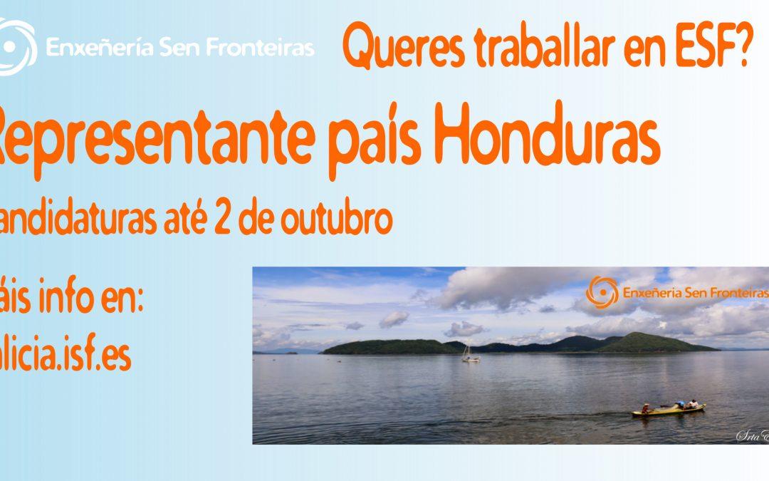 Traballa connosco! Praza persoa expatriada Honduras