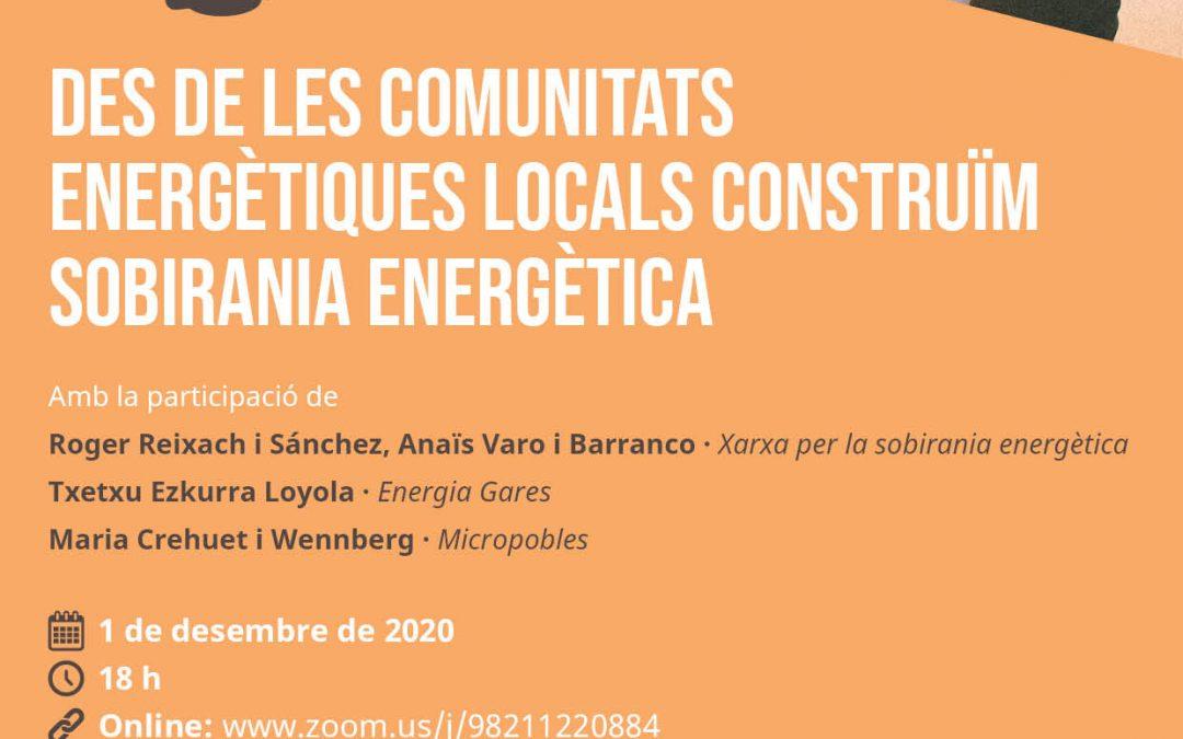 """Acte de """"Des de les Comunitats Energètiques Locals construïm sobirania energètica"""""""