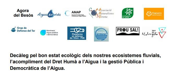 [Comunicat] Instem als partits que poden conformar el proper govern de Catalunya a incorporar 10 mesures per l'aigua