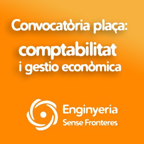 CONVOCATÒRIA TÈCNIC / A DE COMPTABILITAT I GESTIÓ ECONÒMICA
