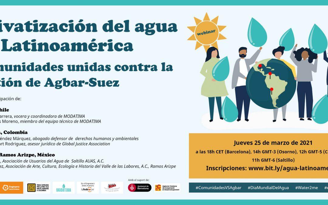 """Webinar Internacional """"Privatización del agua en Latinoamérica"""""""