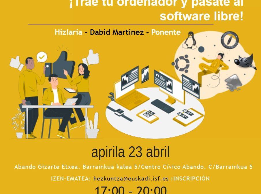 GNU/Linux Install Party ¡Trae tu ordenador y pásate al software libre!